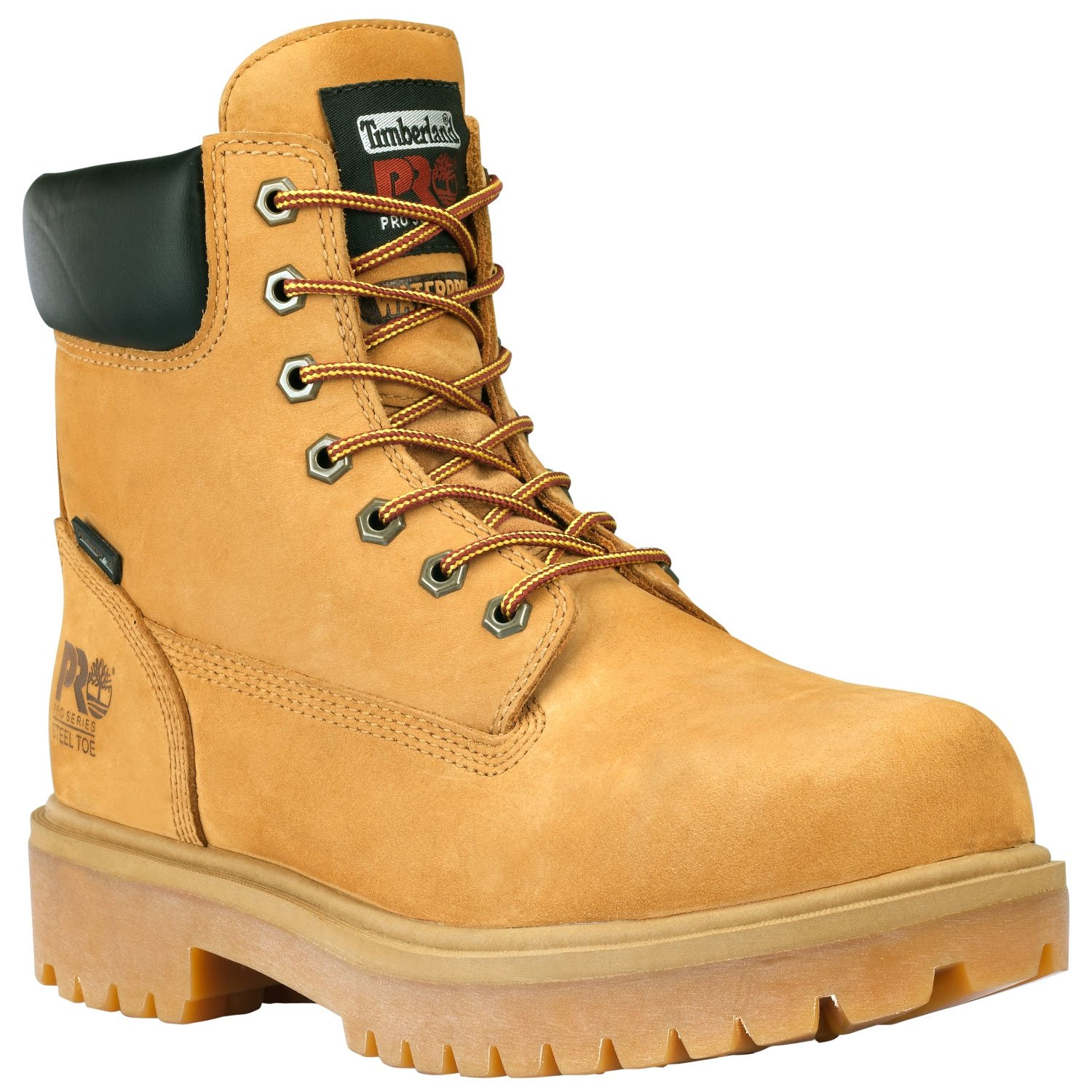Timberland PRO 65016 Mens Direct Attach 6'' Steel Toe Boot (Wheat, 8 M US)