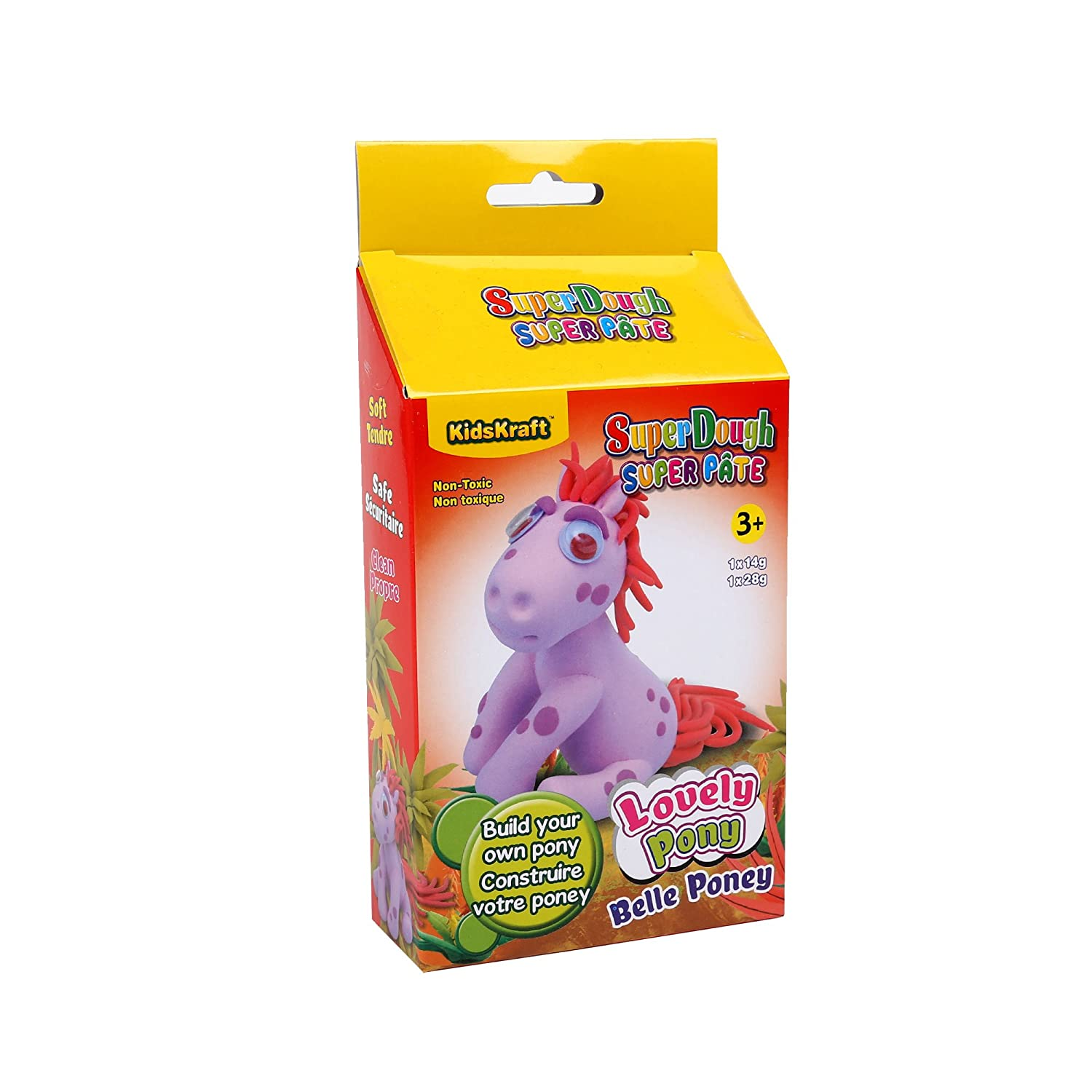 Time 4 Crafts Lovely Pony Super Dough, 4 x 8 x 1.5 inches, Pink CTG Brands 03130DC-PK