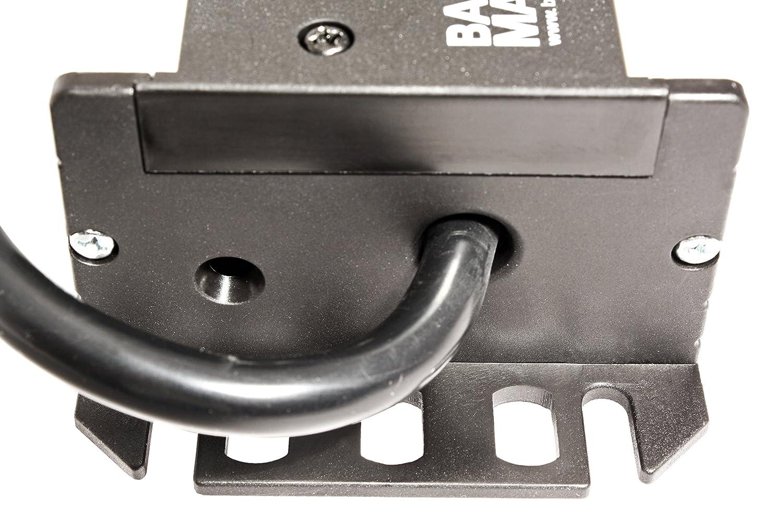 Bachmann 300 001 Steckdosenleiste Handwerkerleiste Steckdosenabstand 15mm Mit 9xschutzkontaktstecker Und 2 0m Zuleitung Schwarz 9 Fach Baumarkt