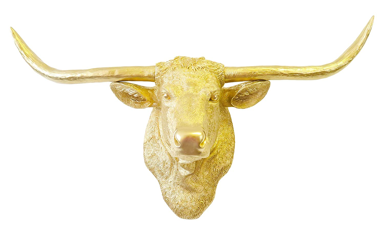 Amazon.com: Near and Deer Faux Taxidermy Texas Longhorn head Wall ...