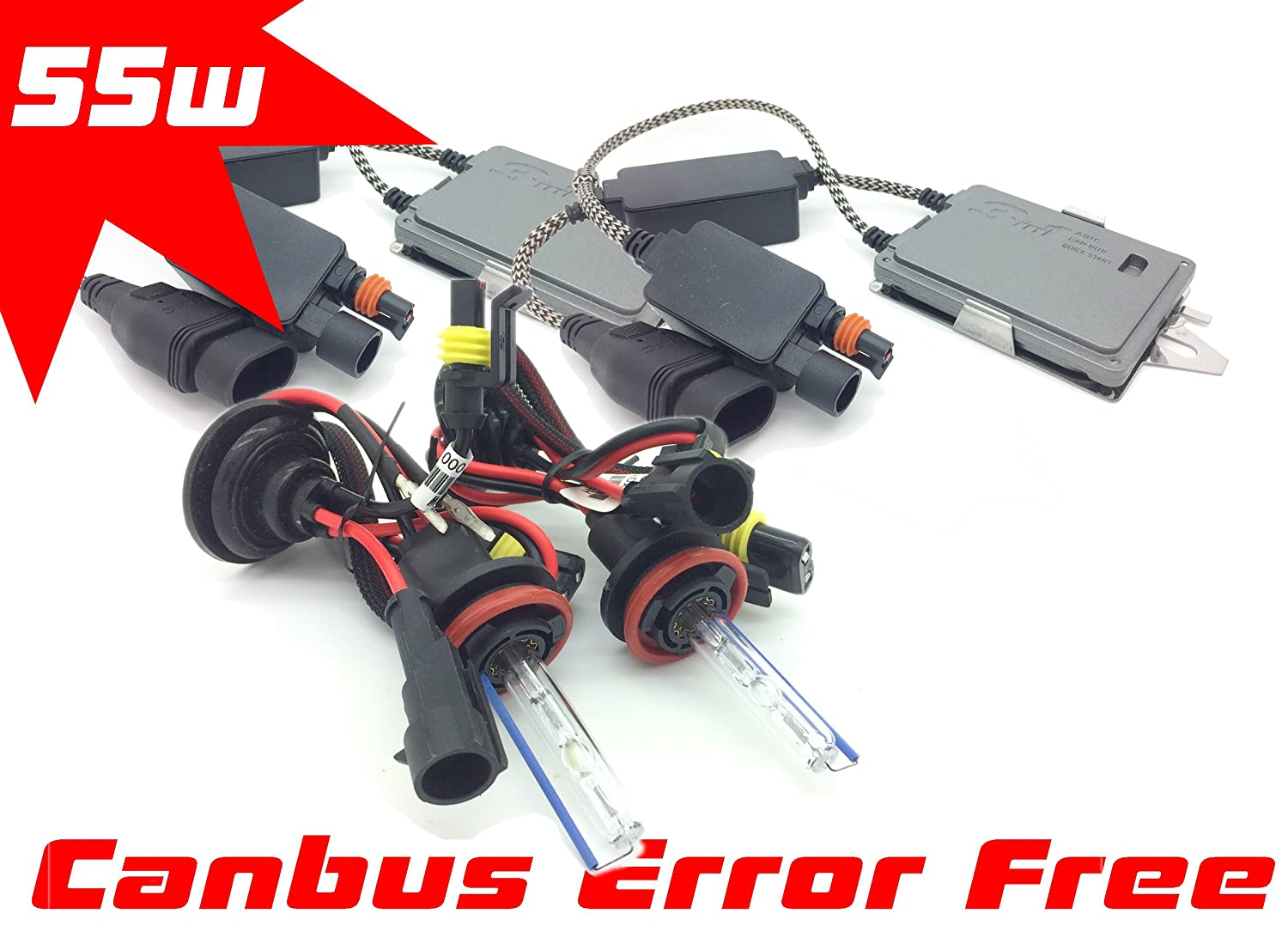 Does not apply 55WCANH11-6K 55W H11 Xenon HID Conversion Kit Set Pair Canbus 6000K