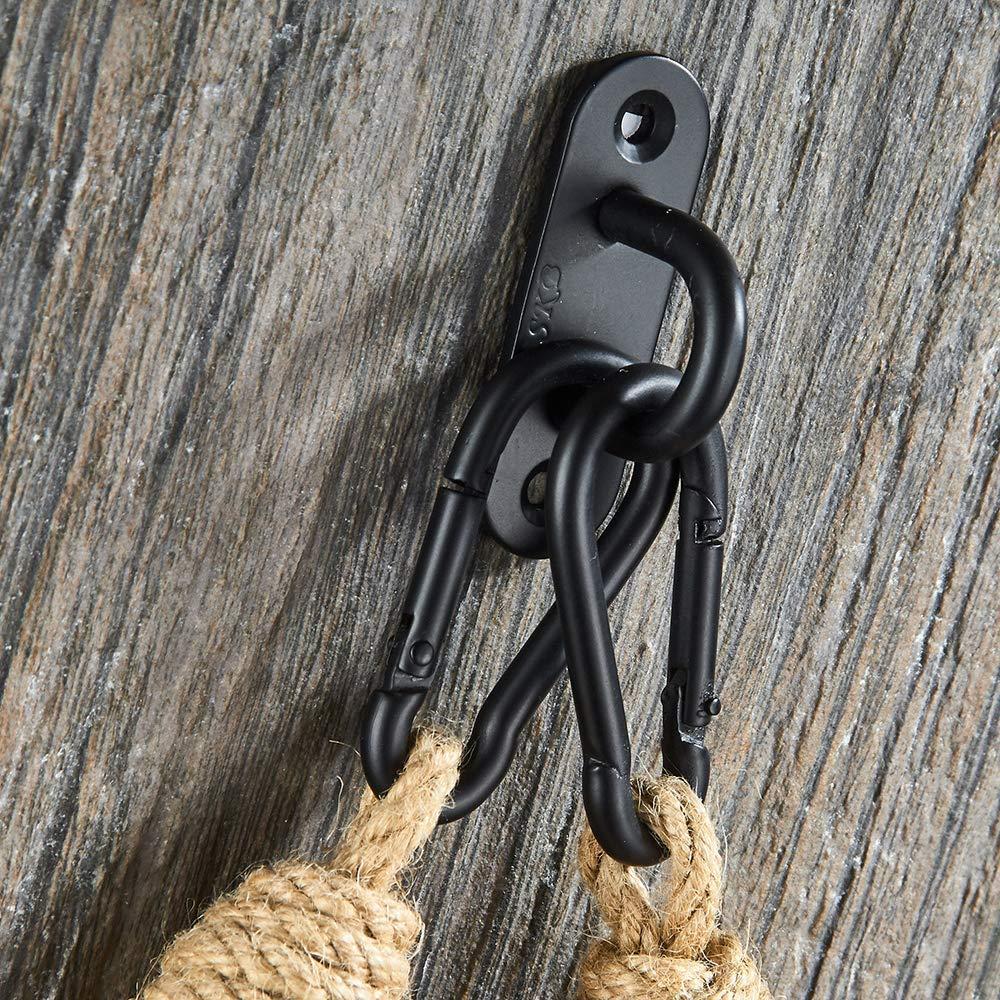 RQMQRL F/ácil de Instalar Ba/ño Portarollo Sujetador de Papel Montura Higi/énico Vintage Cuerda Industrial Cuerda natural