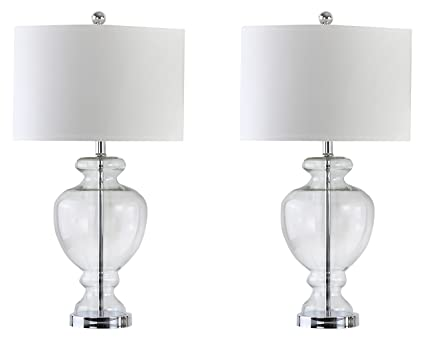 Safavieh Lighting Collection Clear Glass 28 Inch Table Lamp (Set Of 2)