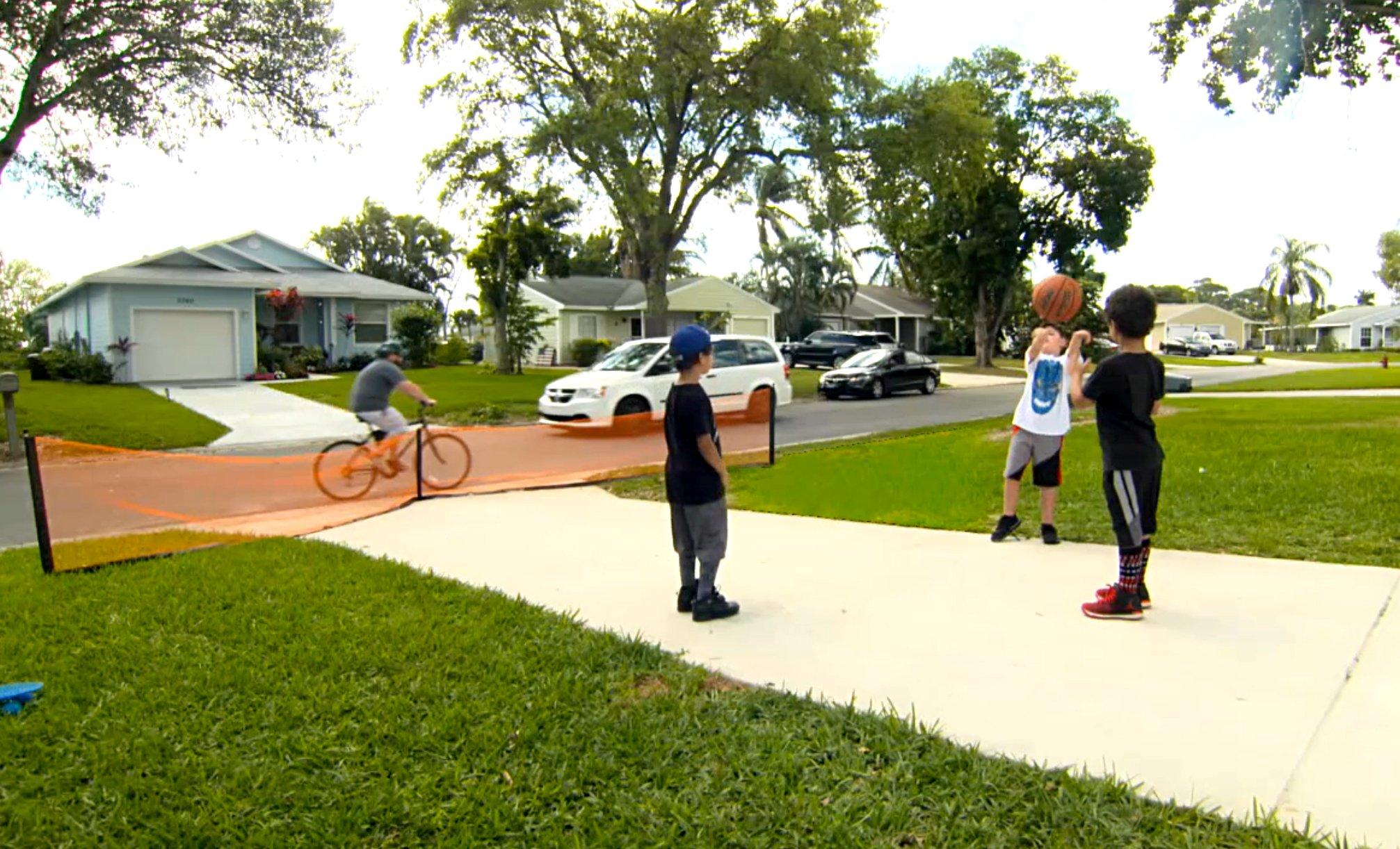 Play It Safe RPDN26 Driveway Net, Large, Orange by Play It Safe (Image #5)
