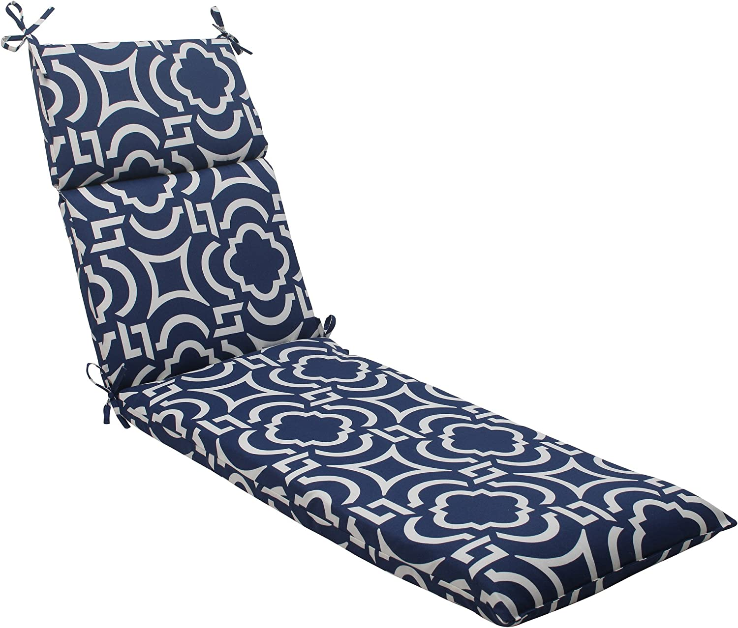 Pillow Perfect Indoor Outdoor Carmody Chaise Lounge Cushion, Navy