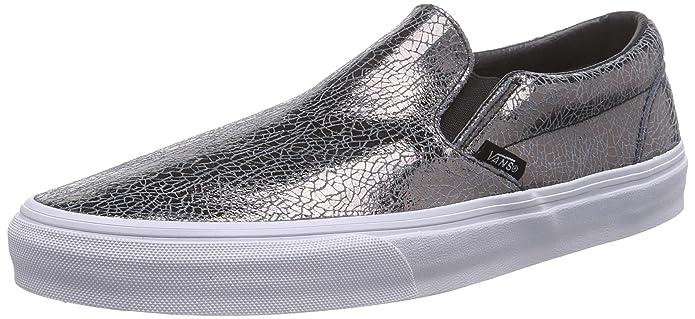 Vans Classic Slip-On Sneakers Damen rissiges Metall (Cracked Metallic)