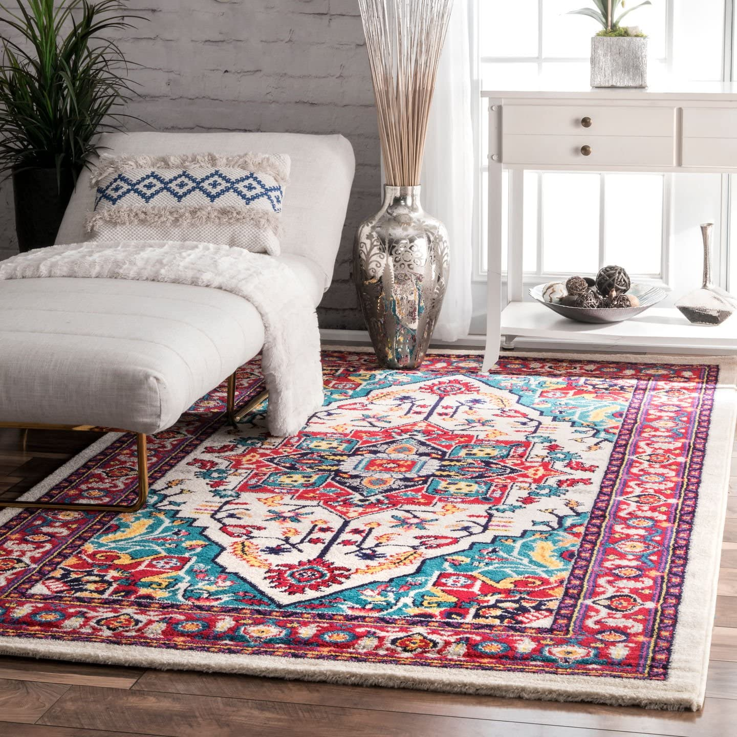 nuLOOM Elenor Persian Floral Area Rug, 5 x 8 , Multi