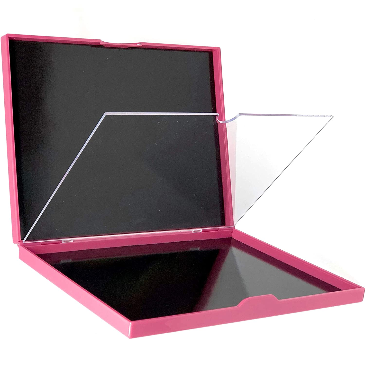 The Adept Palette Hot Pink - Double Sided Magnetic Empty Palette with Divider, Holds over 100 Single Round Standard Sized Eyeshadow Pans, Hardshell Case