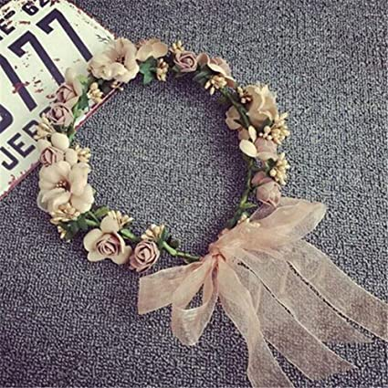 Women Boho Flower Floral Hairband Headband Crown Party Bride Wedding Beach Nice!