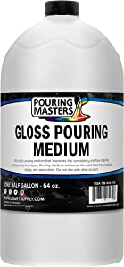 U.S. Art Supply Gloss Pouring Effects Medium - 64-Ounce/Half Gallon
