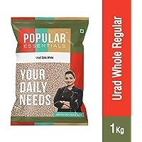 Popular Essentials Regular Urad Whole White (Gola), 1kg