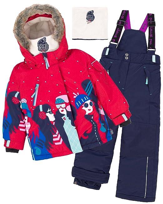 c7d07e566 Deux par Deux Girls  2-Piece Snowsuit Retro Alpine