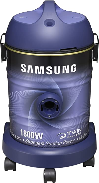Samsung SW7550 - Aspiradora (1800 W, 330 W, Aspiradora cilíndrica, Sin bolsa, 20 L, Azul): Amazon.es: Hogar