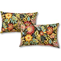 Greendale Home Fashions Rectangle Outdoor Accent Pillow (set of 2), Jungle
