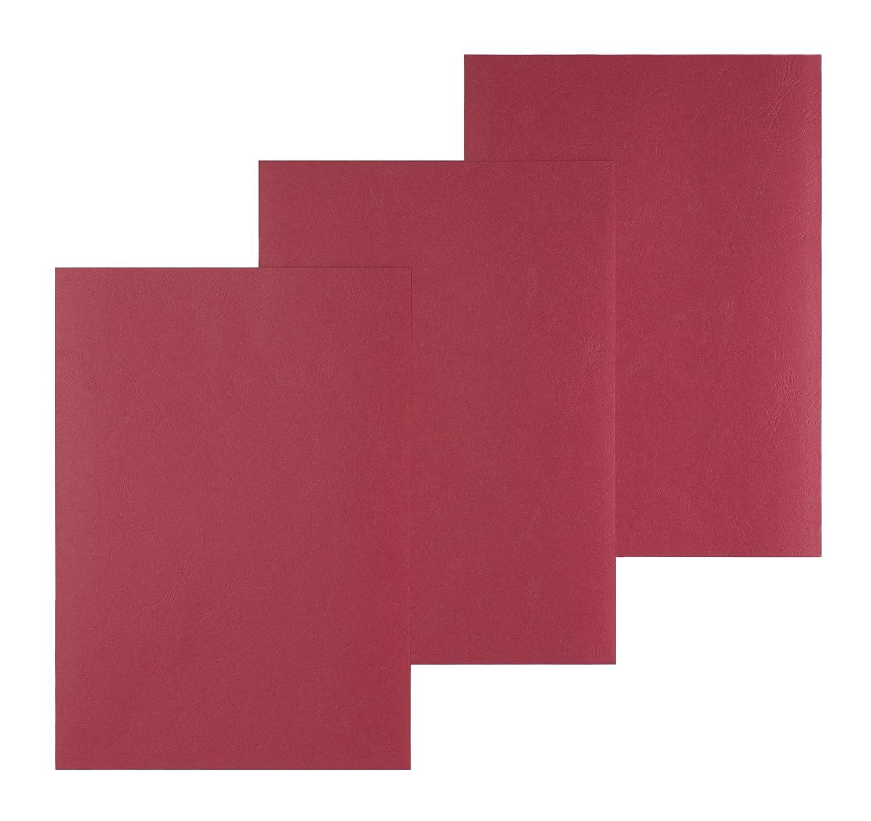 Pavo Einbanddeckel-Lederoptik DIN A4, 250 g/m², 100-er Pack, rot 250 g/m² Pavo Sales B.V 8011162