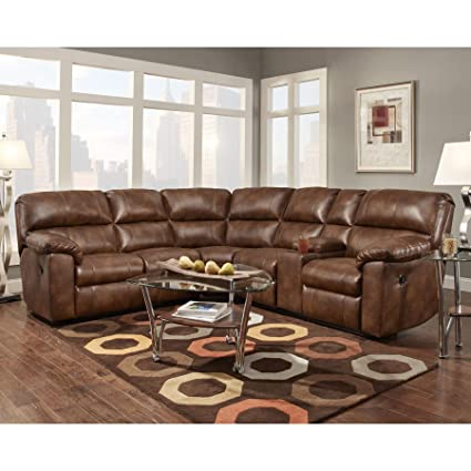 Enjoyable Amazon Com Sofa Trendz Cyndel Brown Faux Leather Reclining Pdpeps Interior Chair Design Pdpepsorg