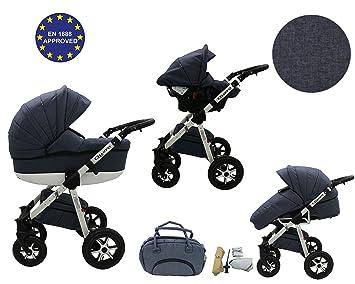 Quero, Edición de lino - Sistema de viaje 3 en 1, silla de paseo, carrito con capazo ...