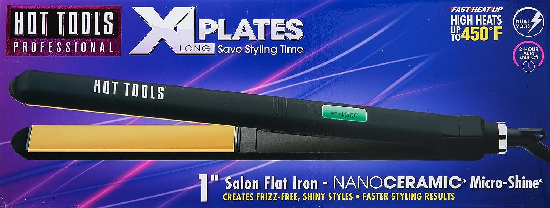 Amazon.com  Hot Tools Nano Ceramic Digital Flat Iron with Extra-long Plates 1 Inch  Beauty  sc 1 st  Amazon.com & Amazon.com : Hot Tools Nano Ceramic Digital Flat Iron with Extra ...