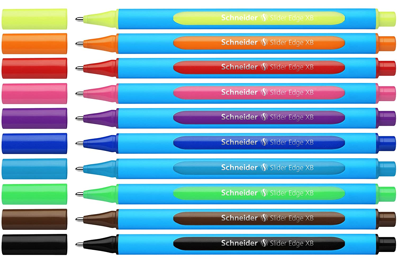 schneider slider edge xb  : Schneider Slider Edge Assorted Ballpoint Pens (Wallet of ...
