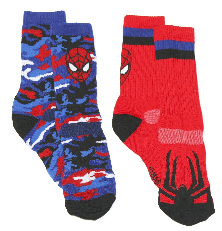Spider-Man Boys 2 pack Athletic Crew Socks (Little Kid/Big Kid/Teen/Adult) manufacturer