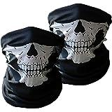 Masques Visage Xpassion 2 Pièces Crâne Imprimer Multifonction Chapeaux Tube Visage Masques