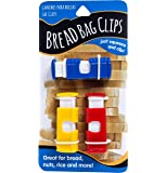 Jacent Squeeze Bread Bag Cinch Clips, Assorted Colors, 3 Count Per Pack 1-Pack Multicolor