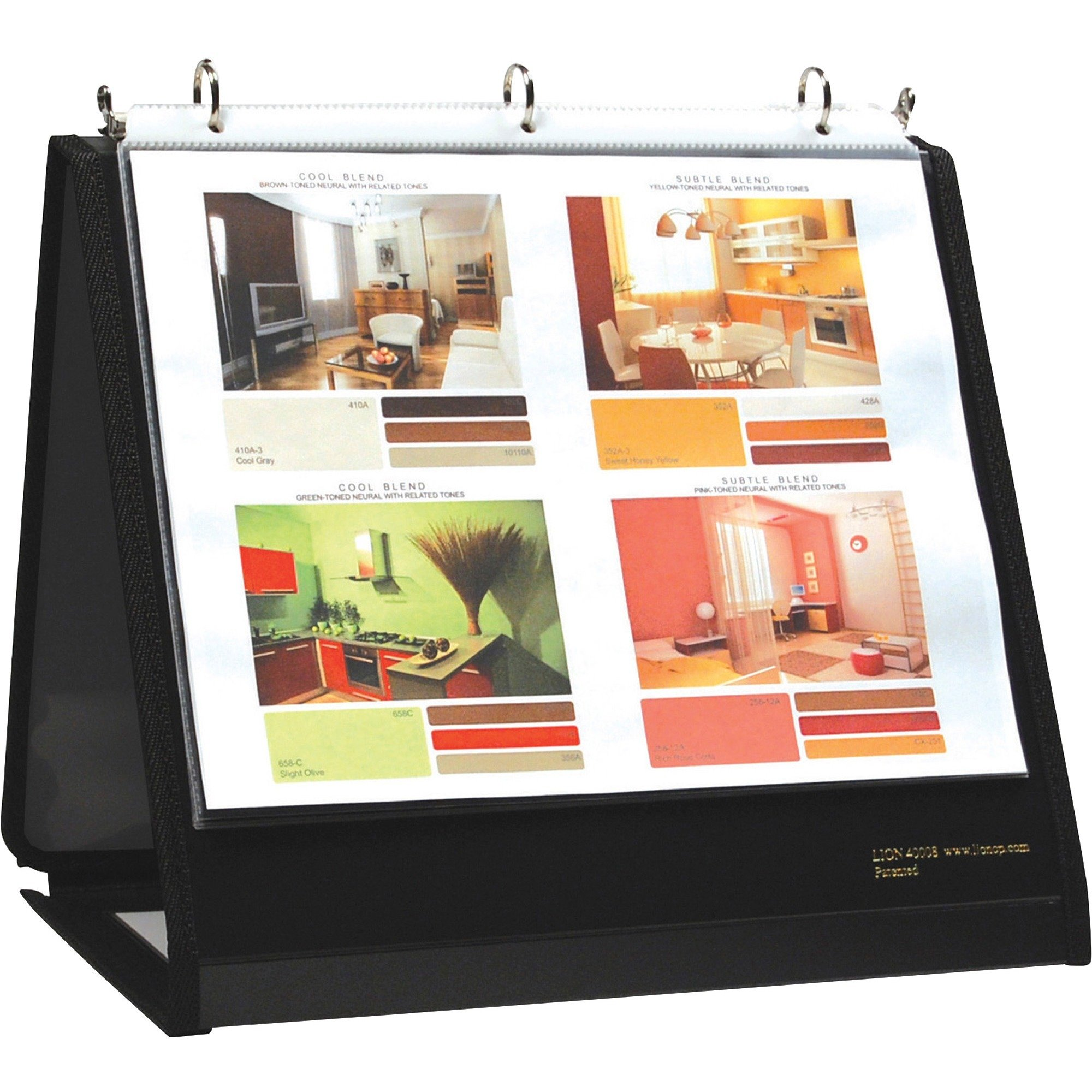 Lion Office Products, Inc 40008BK Ring Binder Easel, 3/4-Inch Cap, Horizontal, 11-Inch x8-1/2-Inch, Black by Lion Office Products, Inc