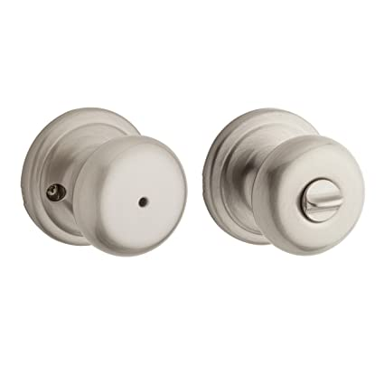 Kwikset Juno Bed/Bath Knob in Satin Nickel - Nickle Interior Door ...