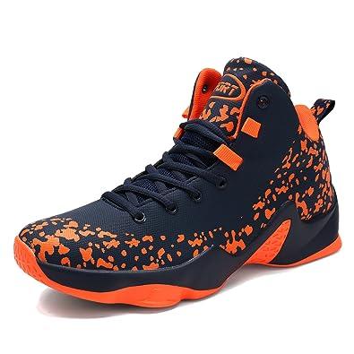 ASHION Herren Basketball Schuhe Outdoorschuhe Basketballstiefel Sneaker Sportschuhe(Schwarz EU42) RYpjP5KE