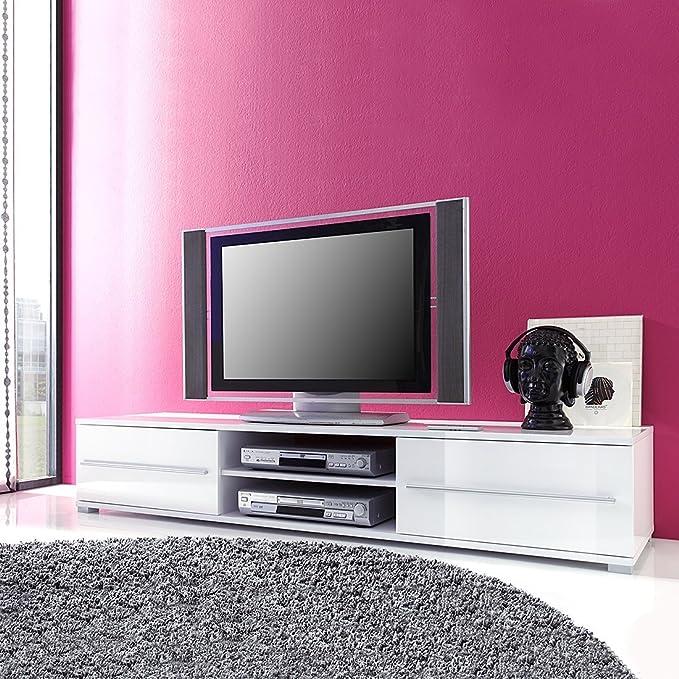 TEMPO III high gloss TV Cabinet (White gloss): Amazon.co.uk: Kitchen ...