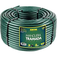 """Surtek M12T100 Manguera Tramada 1/2"""" Rollo 100 m, color Verde"""