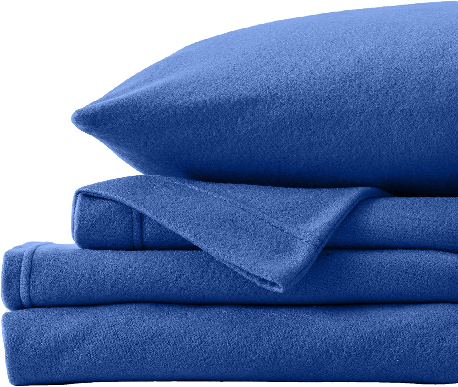 Super Soft Extra Plush Fleece Sheet Set. Cozy, Warm, Durable, Smooth, Breathable Winter Sheets in Solid Colors. Christina Collection (Twin, Navy)