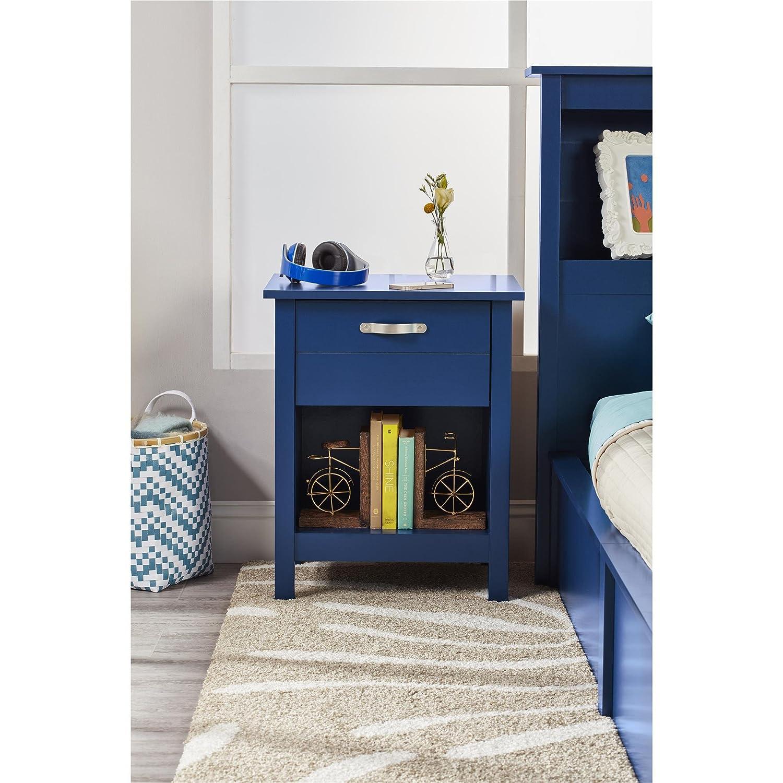 Amazon.com: Mesita de noche en azul acabado: Kitchen & Dining