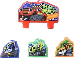 Amazon.com: Blaze y los Monster Machines Vela de cumpleaños ...