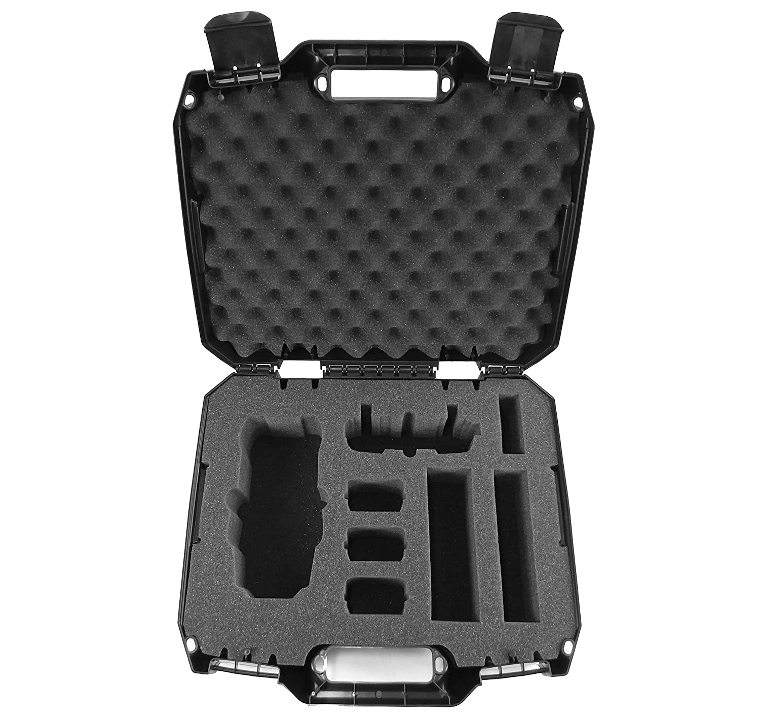 DRONESAFE Rugged Mini Drone Carry Case Organizer With Customizable Foam – Protect DJI Mavic Pro Foldable Drone Combo and Accessories Such as Remote Control Extra Batteries Propellers and More