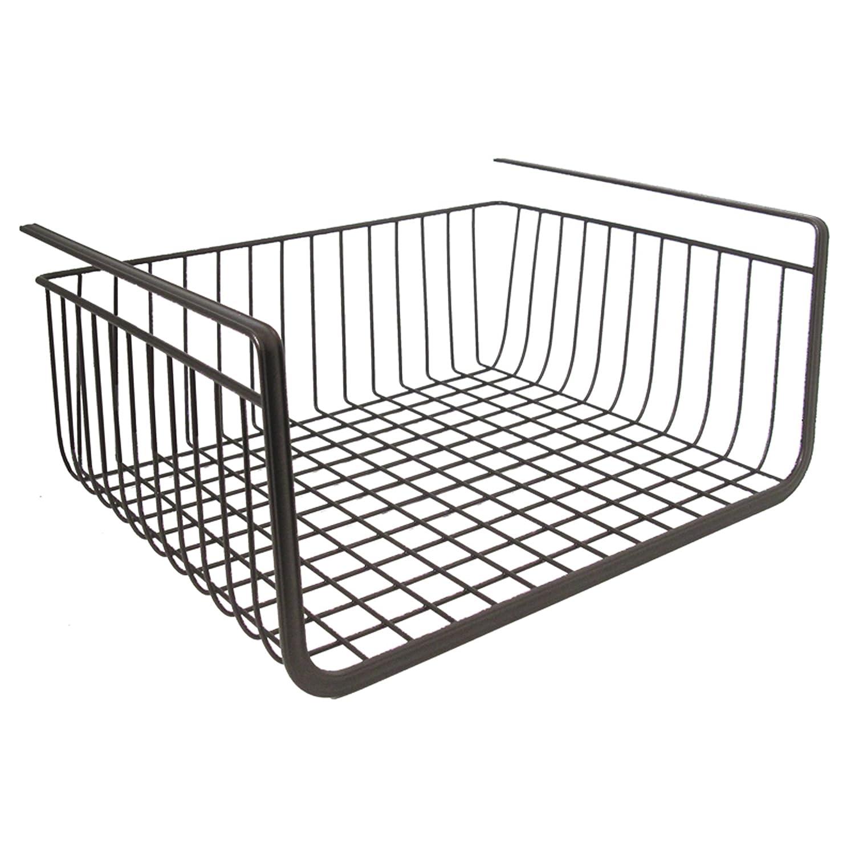 InterDesign York Lyra Under Shelf Hanging Wire Storage Basket for ...