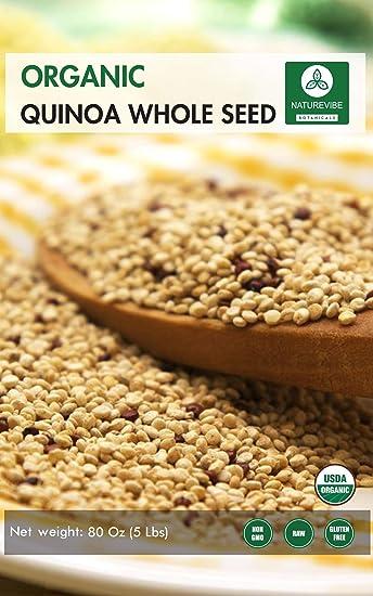 Quinua orgánica (5lb) de Naturevibe Botanicals, sin ...