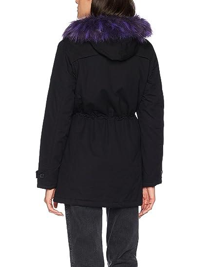 Franka Ripstop, Parka Femme, Schwarz (Black-Purple 170), MediumBrandit