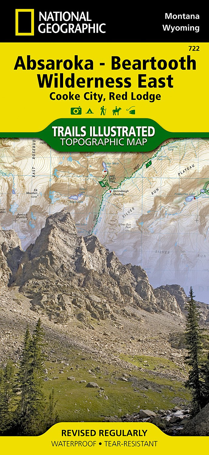 Absaroka - Beartooth Wilderness East : Cooke City, Red Lodge (National Geographic Trails Illustrated Map) pdf epub