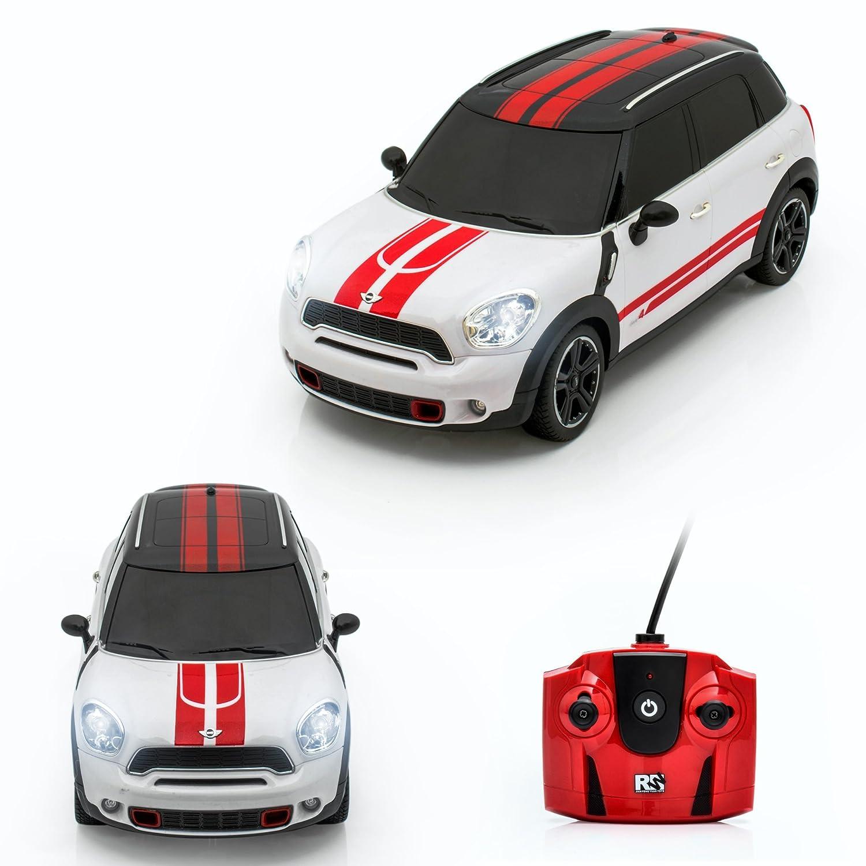 Spire Tech st-249RC Auto S Mini John Cooper Fernbedienung Offizielles Lizenzprodukt Maßstab 1: 18Elektrische Radio Kontrollierte Spielzeug mit Lichter (weiß–27MHz) SPIRE-TECH