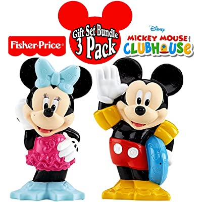 Fisher-Price Disney Mickey Mouse Clubhouse Bath Squirters Mickey & Minnie Gift Set Bundle - 2 Pack: Toys & Games