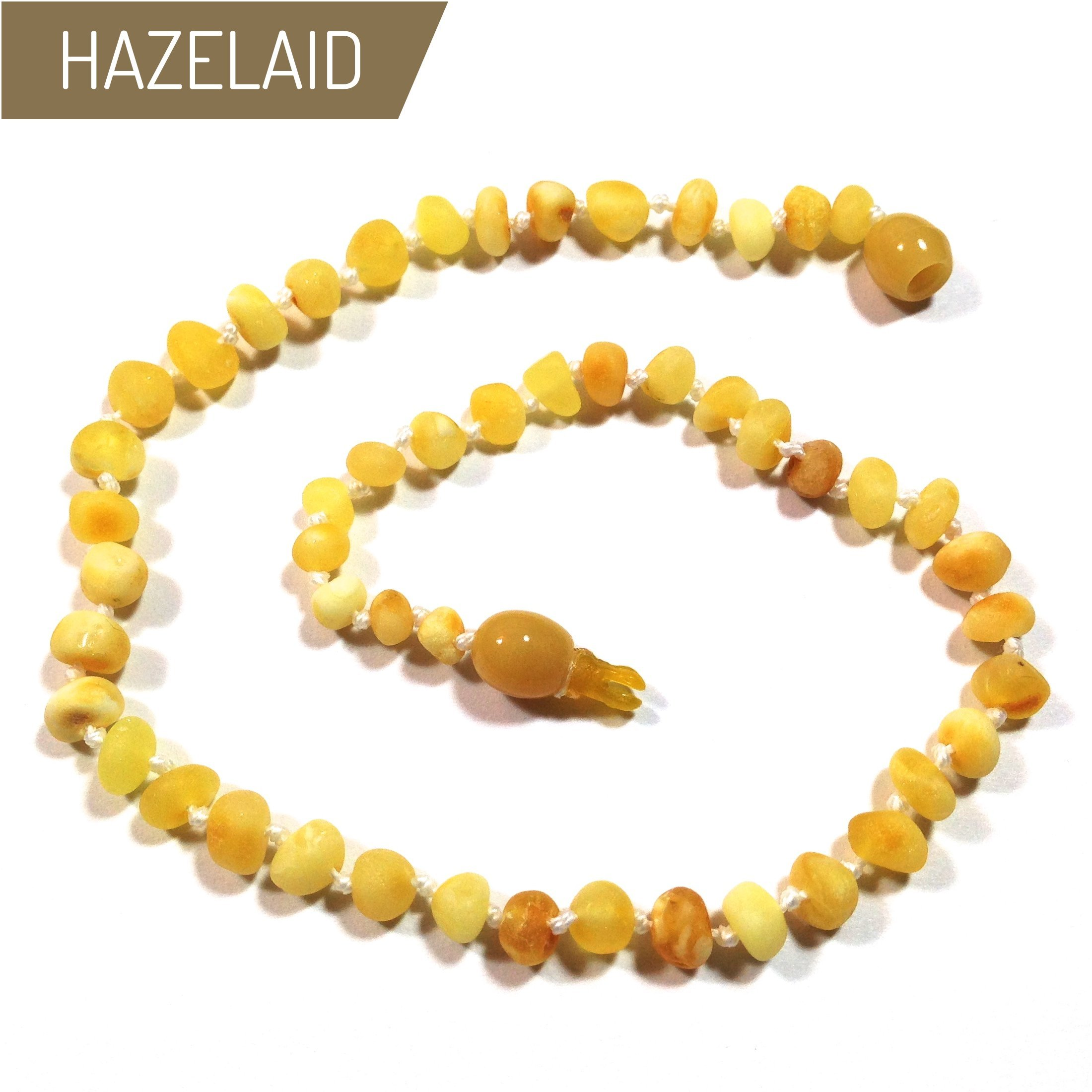 Hazelaid (TM) 12'' Pop-Clasp Baltic Amber Super Butter Necklace
