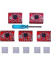 Elegoo 5 PCS A4988 Stepstick Modulo Stepper Motor Driver + Heat Sink Radiatore per Stampanti 3D Printer Reprap, CNC Macchine, Robot
