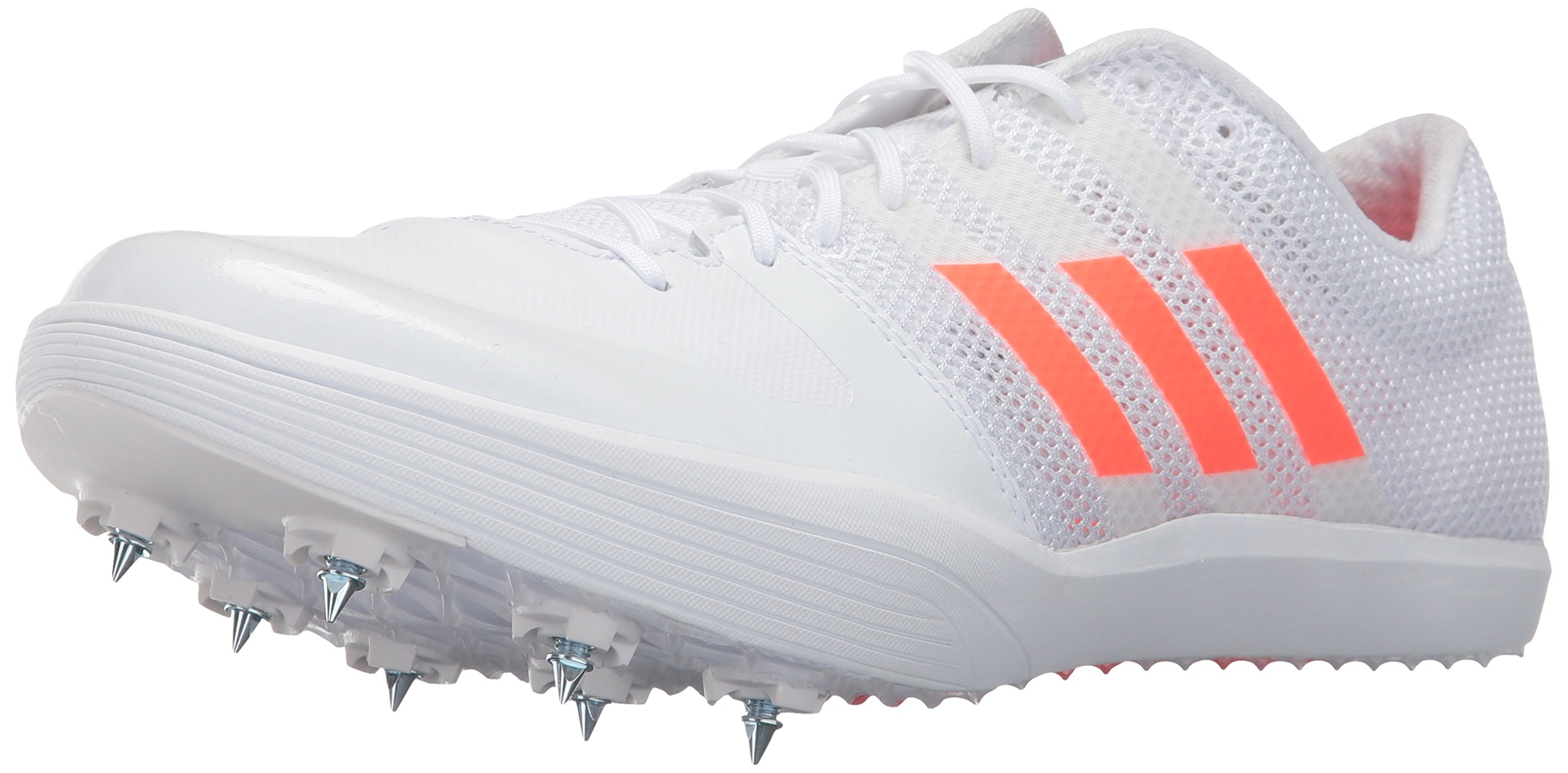 adidas Originals Adizero LJ Track Shoe, White/Solar Red/Metallic Silver, 13 M US by adidas Originals