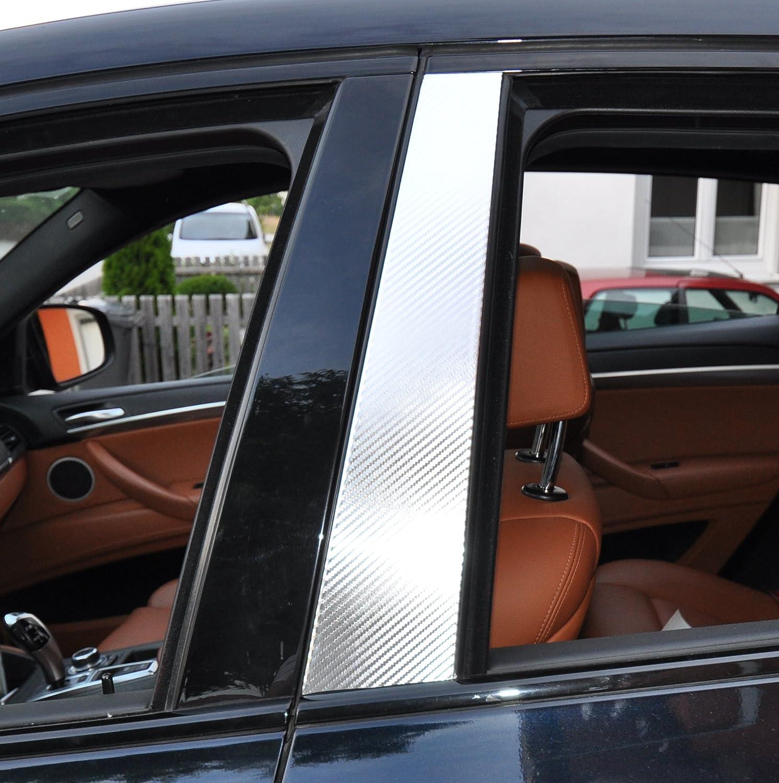 6x Carbon chrom T/ürzierleisten Verkleidung B S/äule T/ürs/äule passend f/ür Ihr Fahrzeug