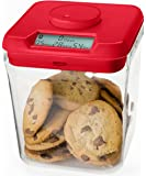 """Kitchen Safe: Time Locking Container (Red Lid + Clear Base) - 5.5"""" Height"""