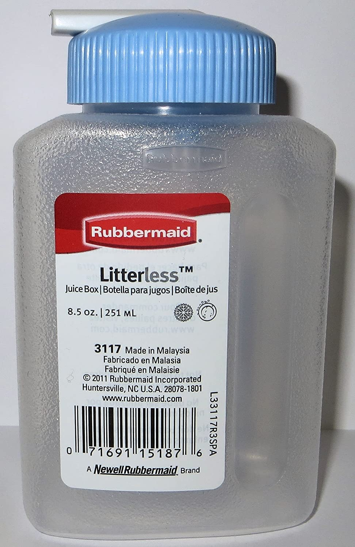 Rubbermaid Juice Box, Litterless, Sipp'N Serve 8.5 Oz / 250 Ml (Pack of 4)