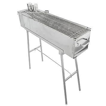 """Fiesta Griller Yakitori parrilla 32 """"x 8"""" – Portátil Barbacoa de carbón de"""