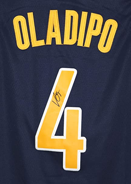 promo code f7d19 04d95 Victor Oladipo Indiana Pacers Signed Autographed Blue #4 ...