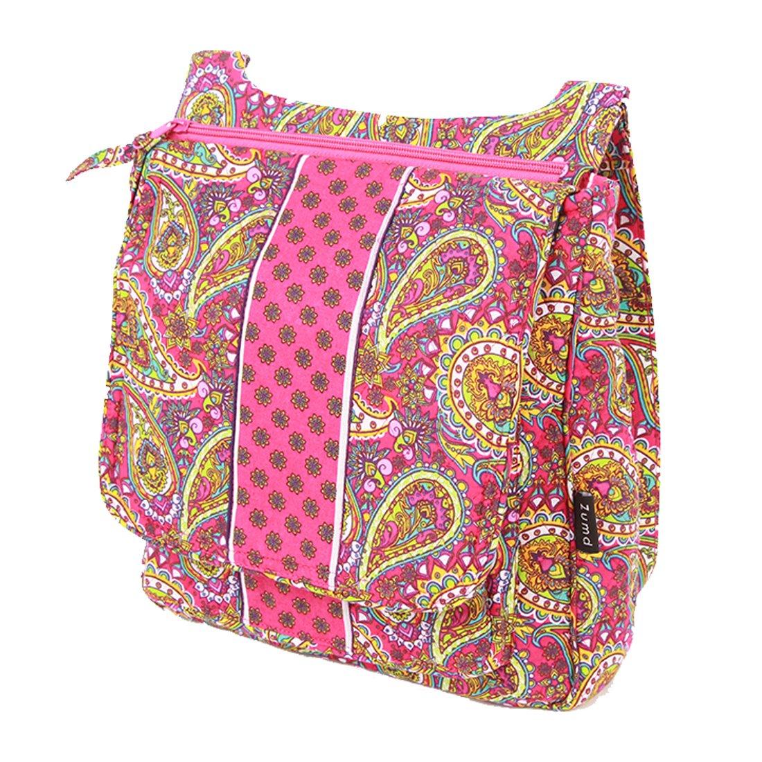 Cotton Cross body bag (Paisley Pink)